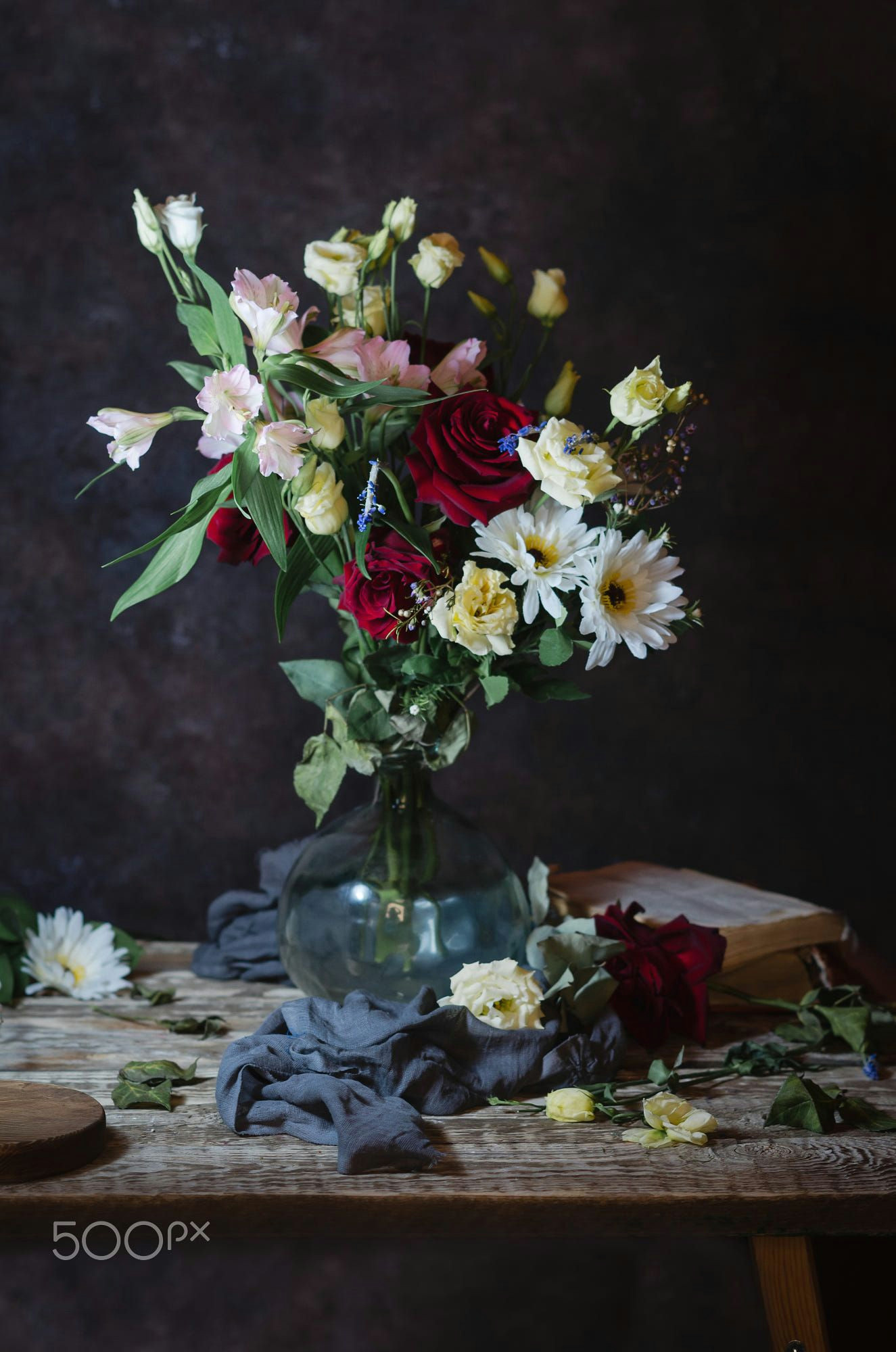 dutch painters inspired still life with old books and flowers