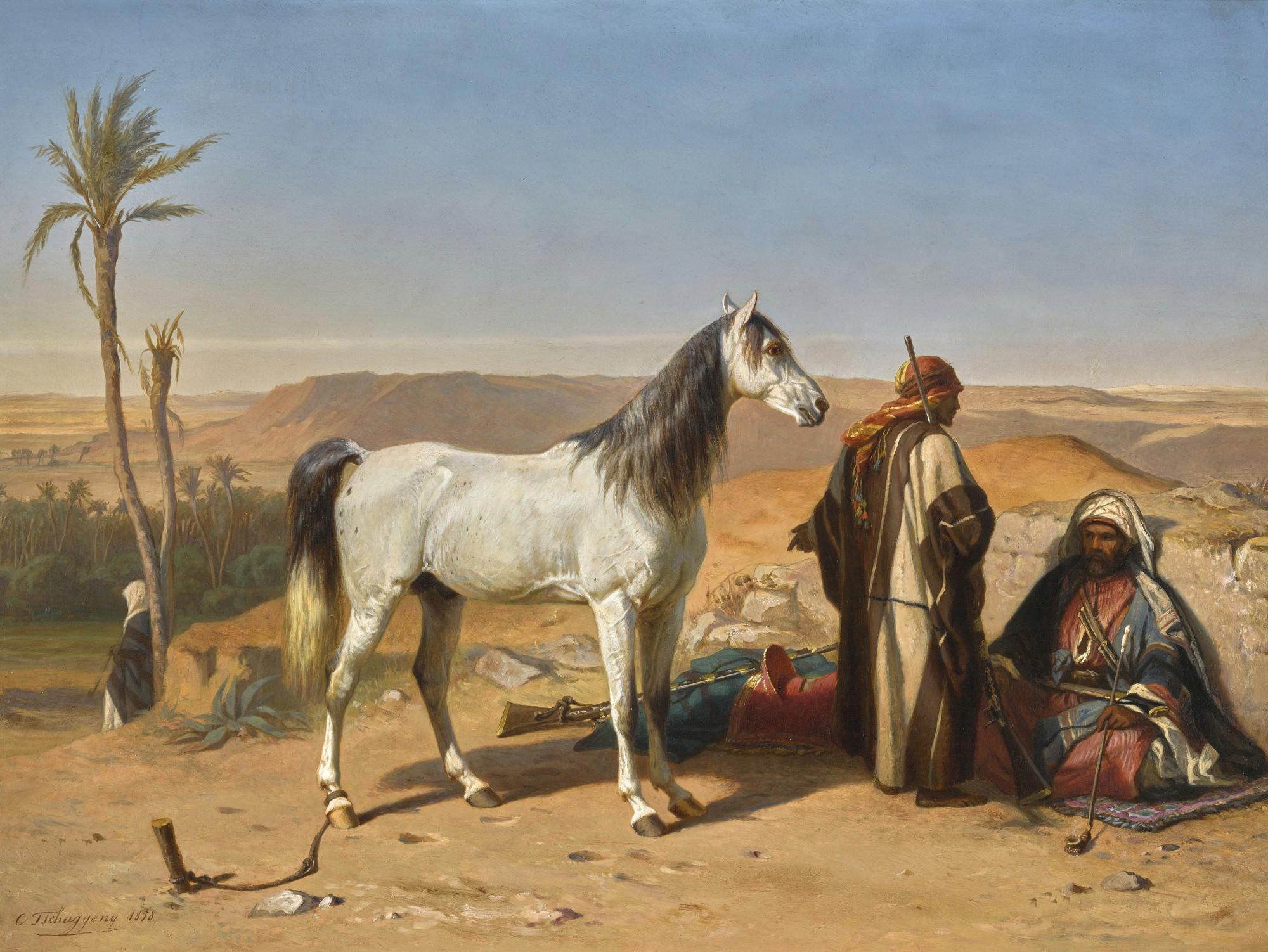 file charles philoga ne tschaggeny an arabian in the desert jpg
