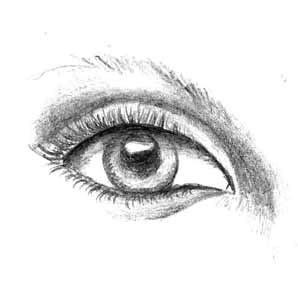 i love hand drawn eyes