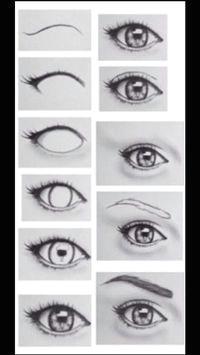 step by step eye drawing
