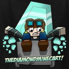 kids dantdm t shirt thediamondminecart us merch store youtuber merch