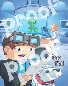 printable dan tdm poster the diamond minecart kids and adults love dan tdm s videos
