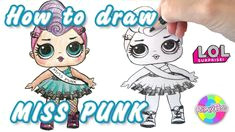 how to draw lol doll miss punk glam club with pencils pencildrawing drawing