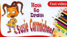 how to draw susie carmichael from rugrats drawing for kids step by ste