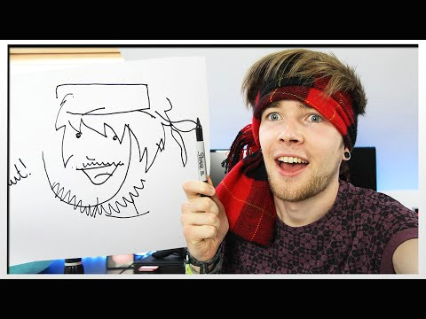 drawing things blindfolded