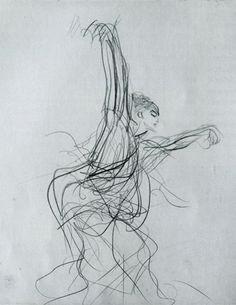 john singer sargeant sketch of a spanish dancer 1879 pencil on paper gardner