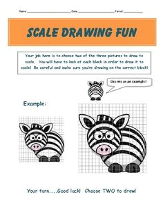 scale drawing examples practice worksheet fun project