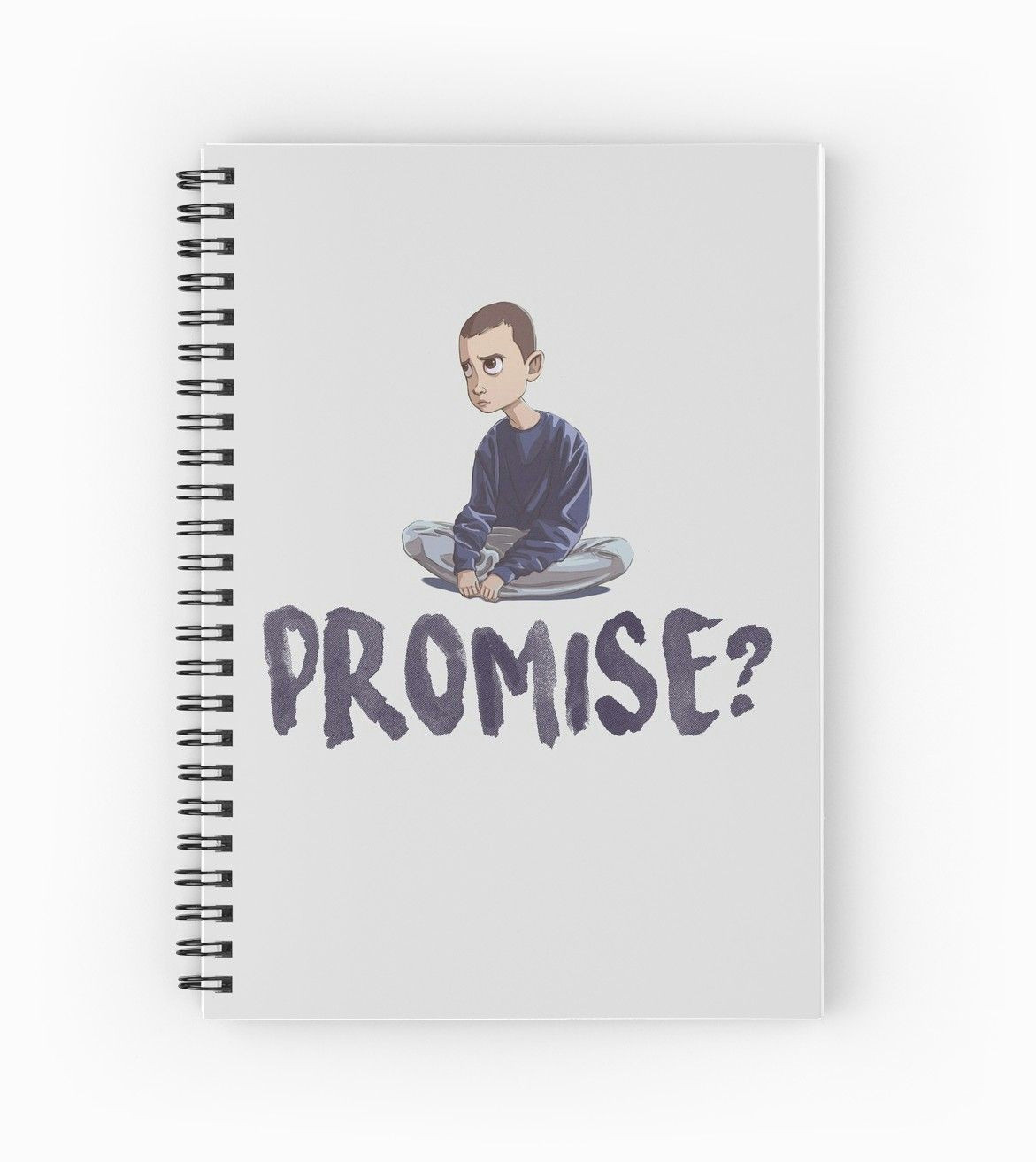 eleven promise spiral notebook stranger things the upside down will indiana mike madmax max eleven jane lucas dustin hopper steve