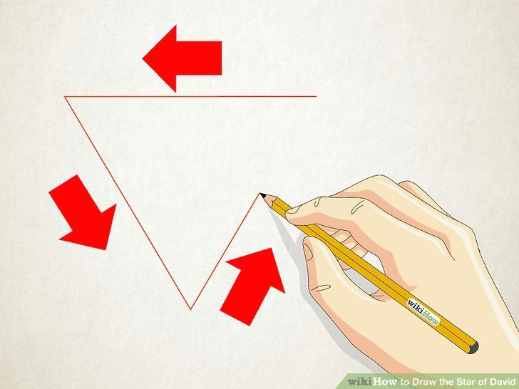image titled draw the star of david step 1
