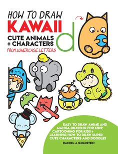 drawing kawaii cute animals characters from lowercase letters 4