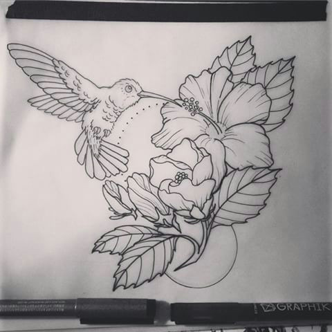 image result for neo traditional hummingbird tattoo pinterest neo traditional hummingbird and traditional