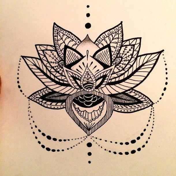 aztec buddhism design drawing flower lotus lotus flower mandala pretty tattoo