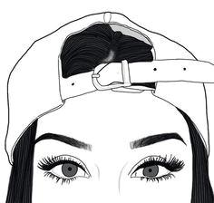 imagen de girl outline and art venezia a swag drawings