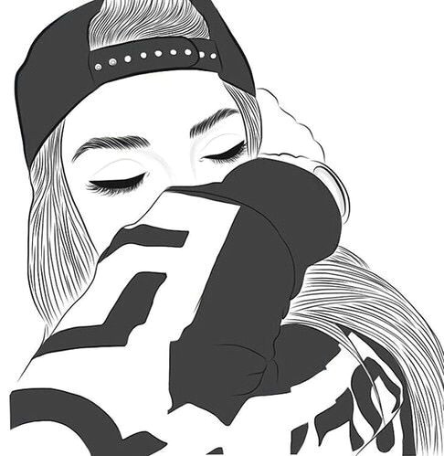 gambar outline girl and tumblr wallpaper drawings tumblr outline tumblr girl drawing