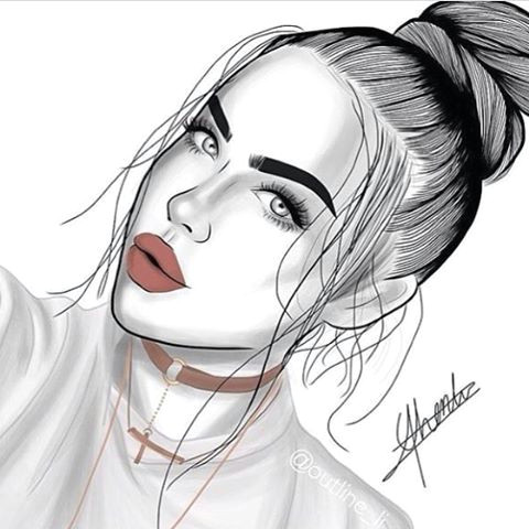 Drawing Tumblr Girl Swag Outlines Outline Tumblr Girl Draw Drawing Art Black and White