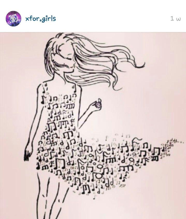 mooie muziek jurk ook leuk om te tekenen music artwork music drawings