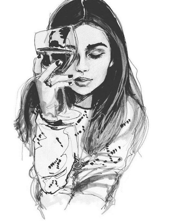 wine painting painting of girl fashion painting sketch painting girl paintings