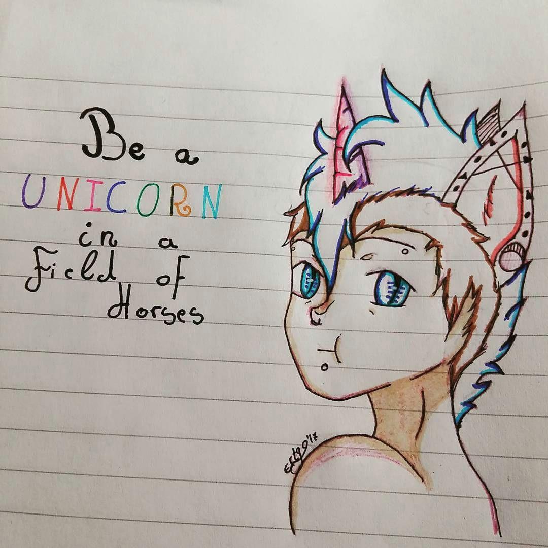 cutie in unicorn form quotes color colofull sketch unicorn happy