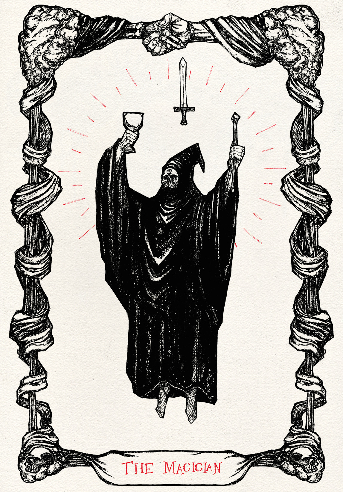 finished drawing up the next card in my tarot set the magician goth darkness nature othercoolsimilarthings