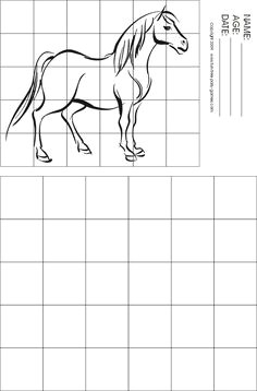 horse grid drawing see student art here