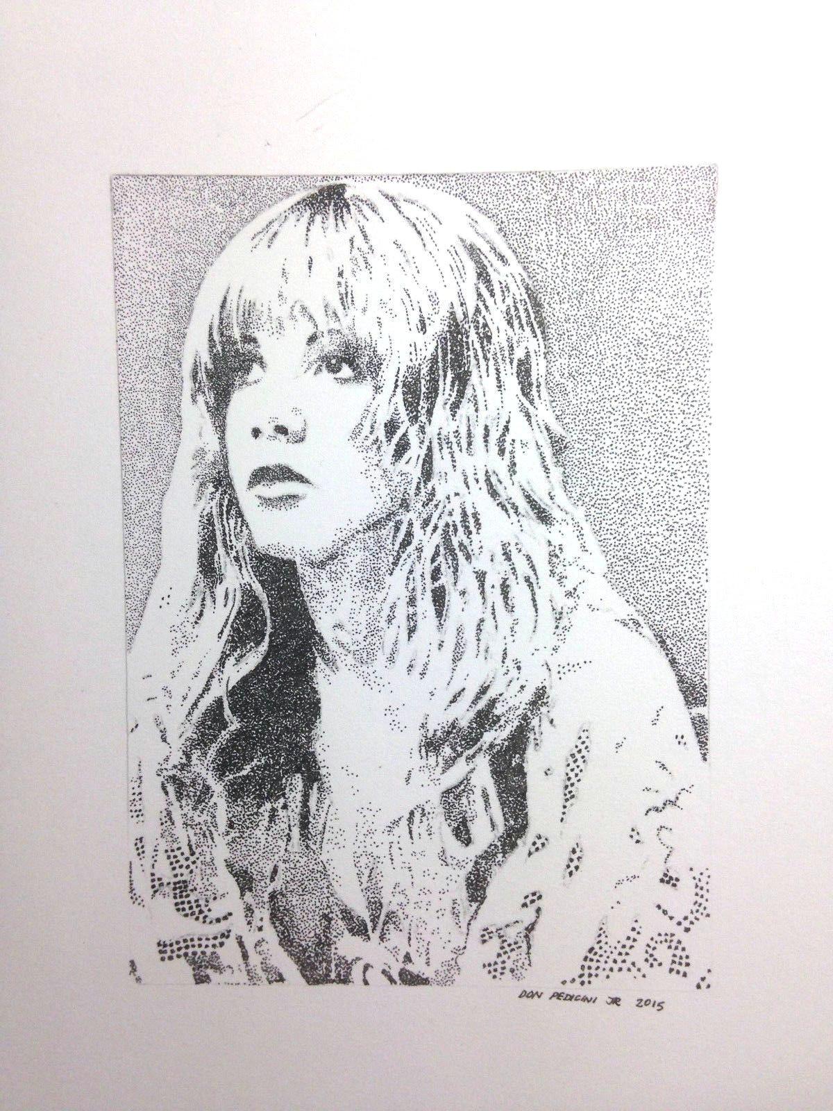 original pen and ink artwork created in stipple