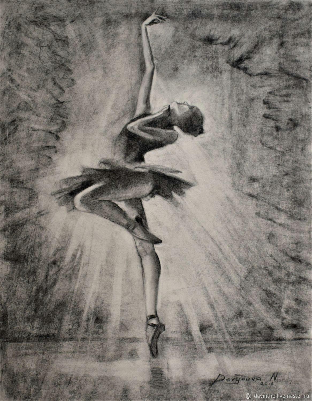 portraits handmade livemaster handmade buy ballerina drawing fine art original charcoal