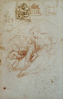 raphael study for what became the alba madonna with other sketches