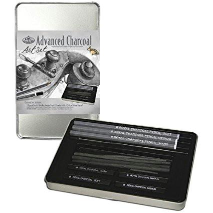 royal langnickel charcoal drawing art set amazon co uk kitchen home