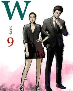 lee jong suk and han hyo joo s dorama w two worlds art