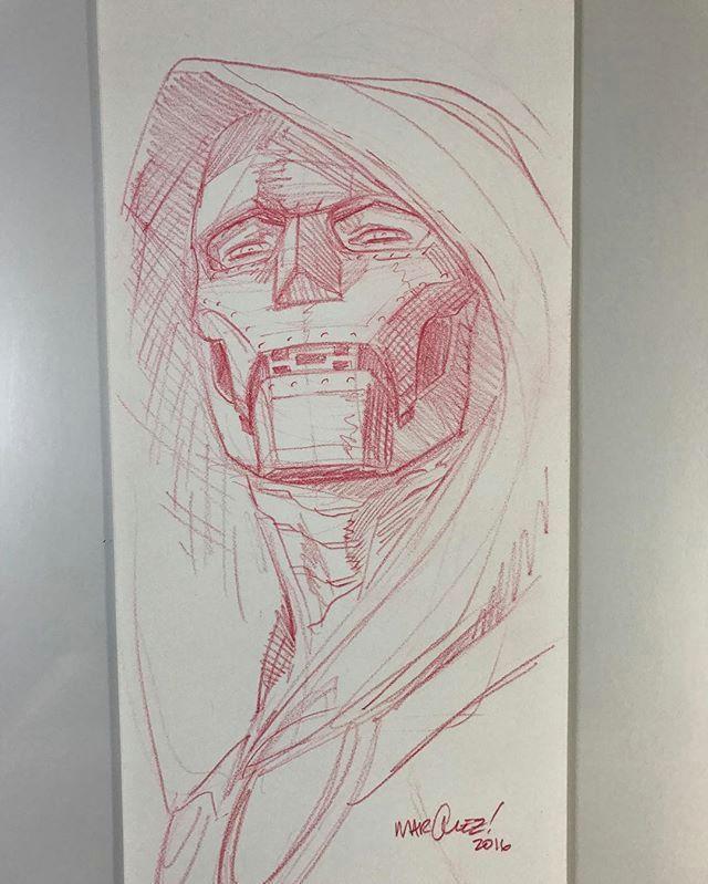 dr doom by david marquez drdoom warmup sketch marvel comics