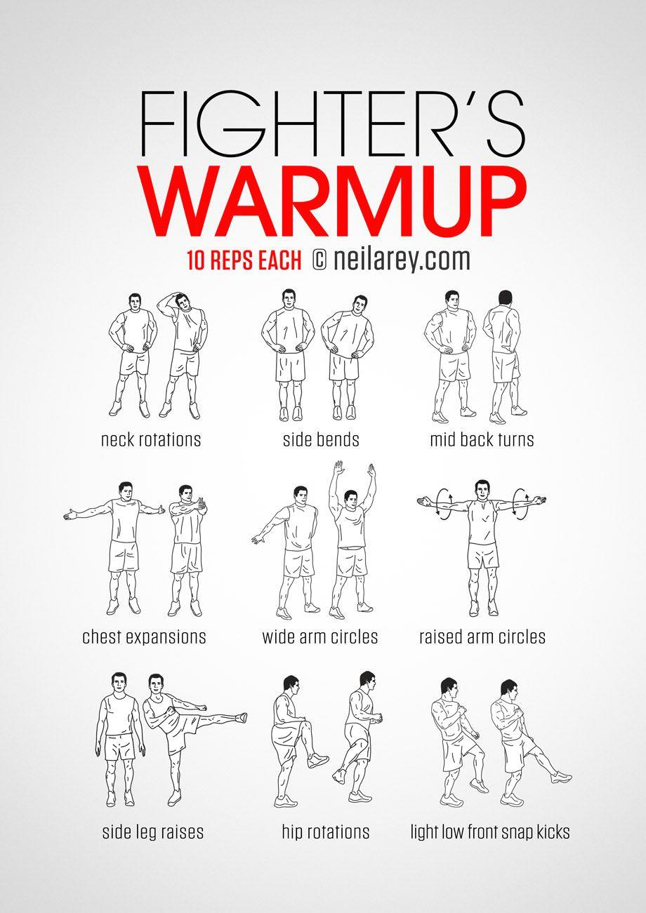 fighter s warm up routine