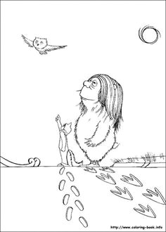 the wild things coloring