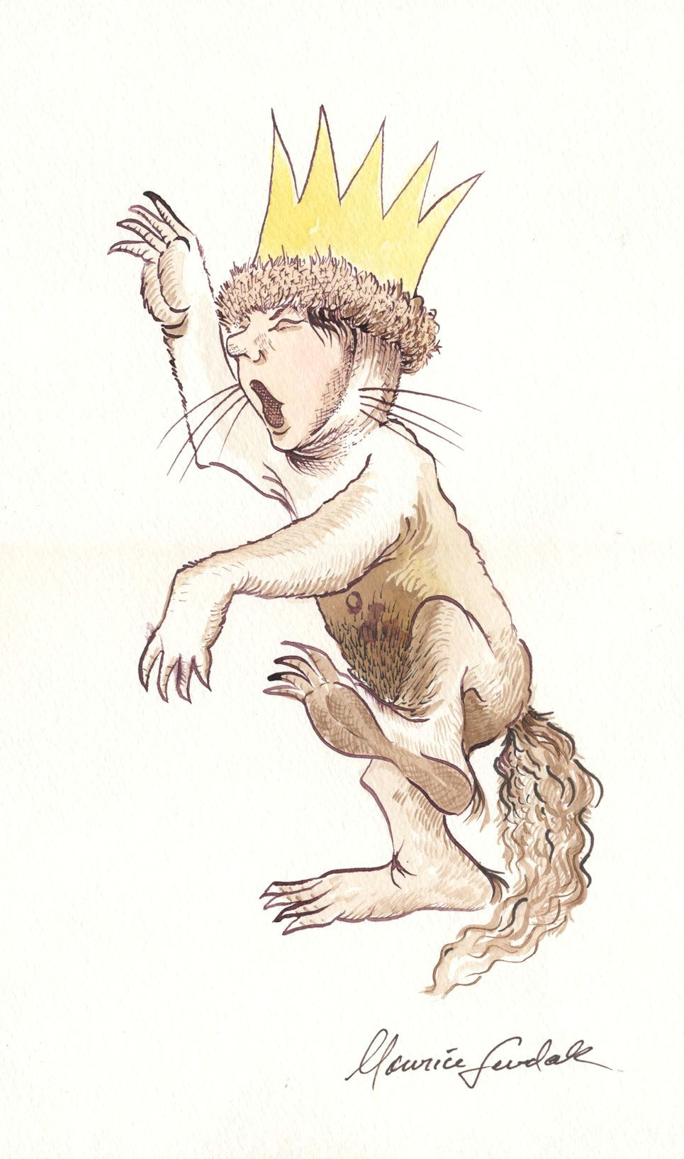 max rages at the system and max said i ll eat you up so he was sent to bed without supper maurice sendak where the wild things are 1963