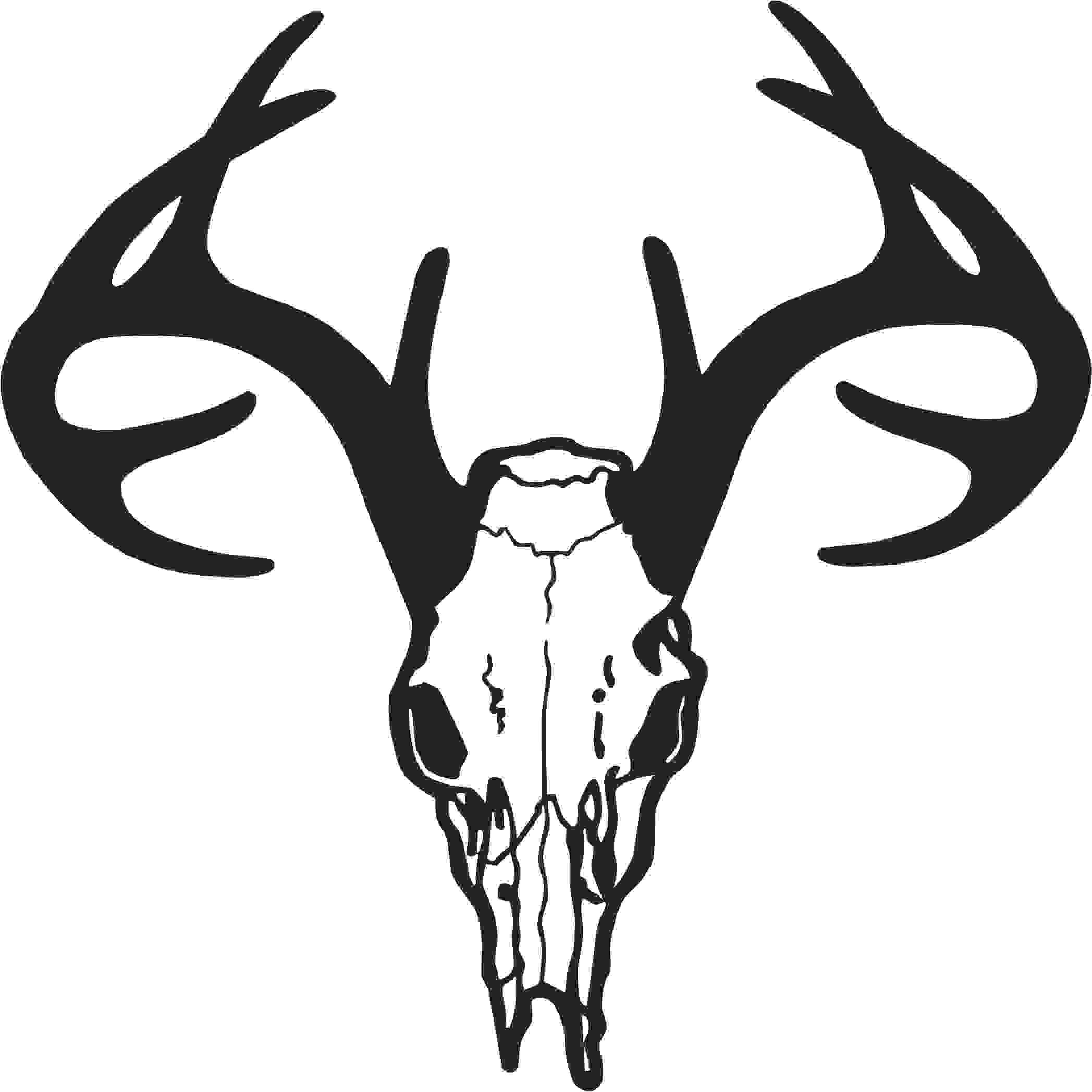 Drawing with Skulls This is Best Deer Skull Clip Art 14201 Deer Skull Drawing Free