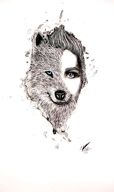 half human half wolf