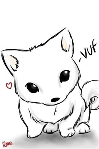 Drawing Wolf Chibi How to Draw Dog Chibi My Dog Chibi 48035 Apple iPhone iPod