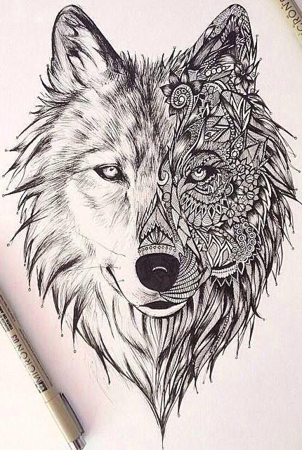 mandala wolf geometric wolf wolf face tattoo lion tattoo wolf tattoo