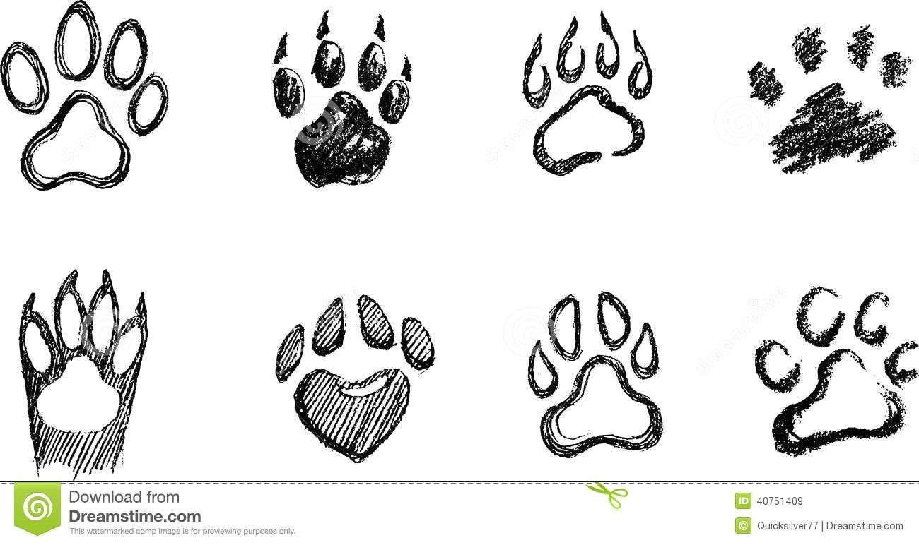 draw a dog paw print how to draw a paw