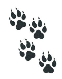 tribal wolf paw google search wolf print tattoo wolf paw tattoos wolf