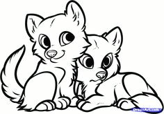 dragoart coloring pages how to draw wolf puppies wolf cubs step 8 draw cute
