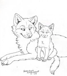 free wolf and pup line art by natsumewolf on deviantart horse coloring pages adult coloring