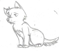 easy sketch wolf how to draw a wolf pup wolf drawing easy