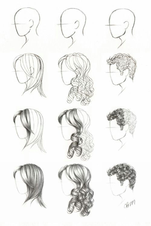 hair tutorials need help drawing faces at a side view
