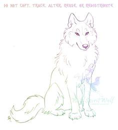 sitting wolf sketch by wildspiritwolf wolf drawings animal drawings pencil drawings art drawings