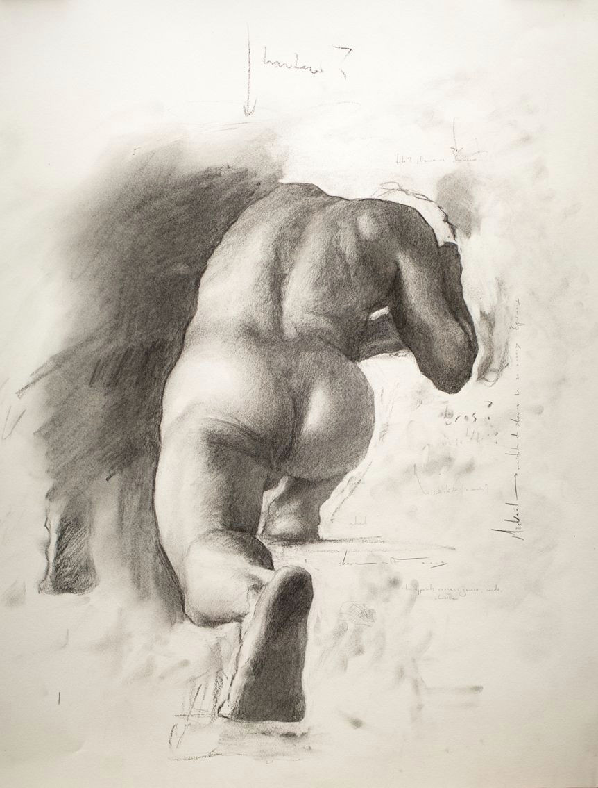 shane wolf 8211 force studio 8211 charcoal on canson