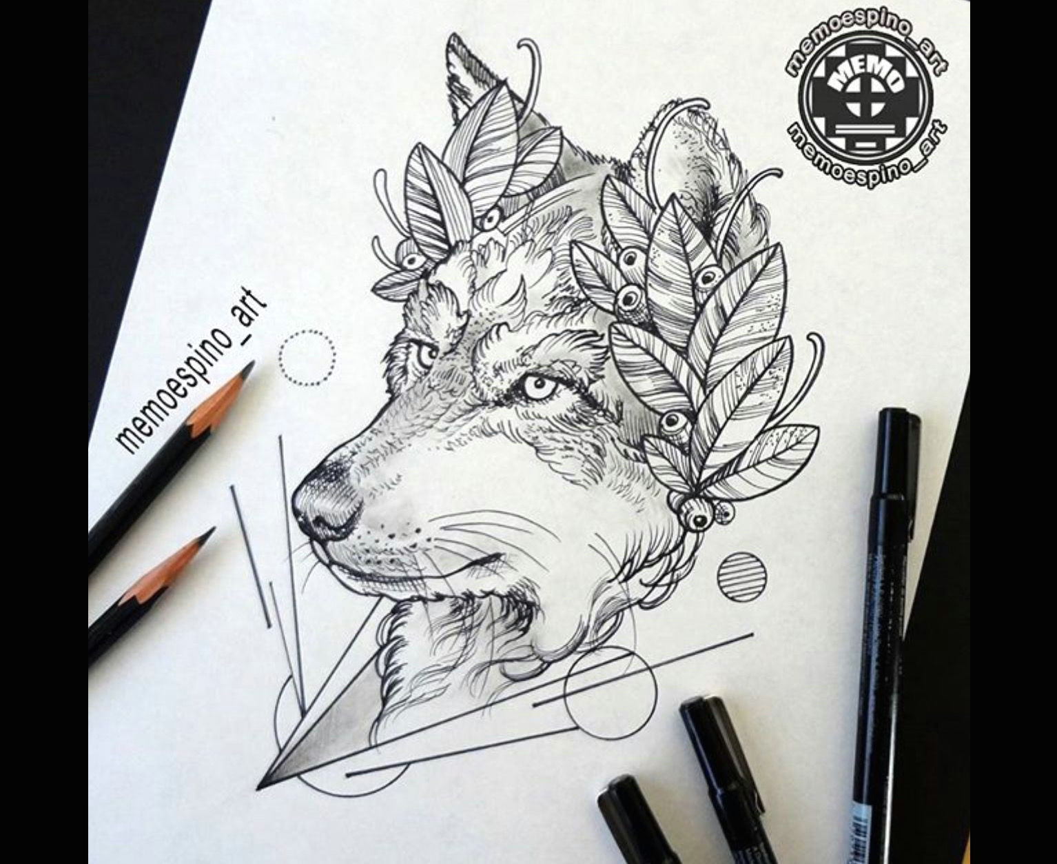 fox tattoo wolf