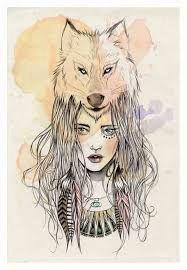 resultado de imagem para desenhos tumblr garotas lobo