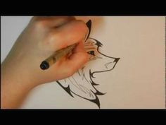 how to draw a tribal wolf youtube tatoo styles tribal wolf line drawing