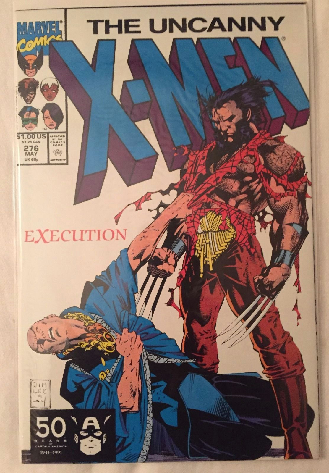 Drawing X-men Characters the Uncanny X Men 276 Marvel Comics Dated 5 1 1991 Everything