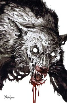 zombie werewolf by dave wachter horror art werewolf tattoo werewolf art werewolf